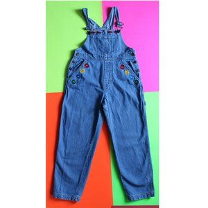 Vintage M&M's Brand  Embordered Denim Overalls SIZ